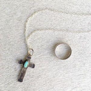 🆕 Listing!  Vintage | Cross & Ring Bundle